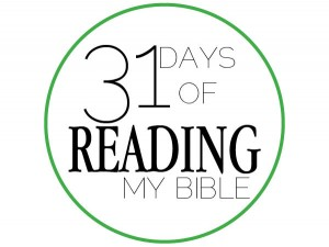 31 Days of Reading Bible