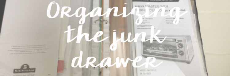 "Organizing the ""Junk Drawer"""