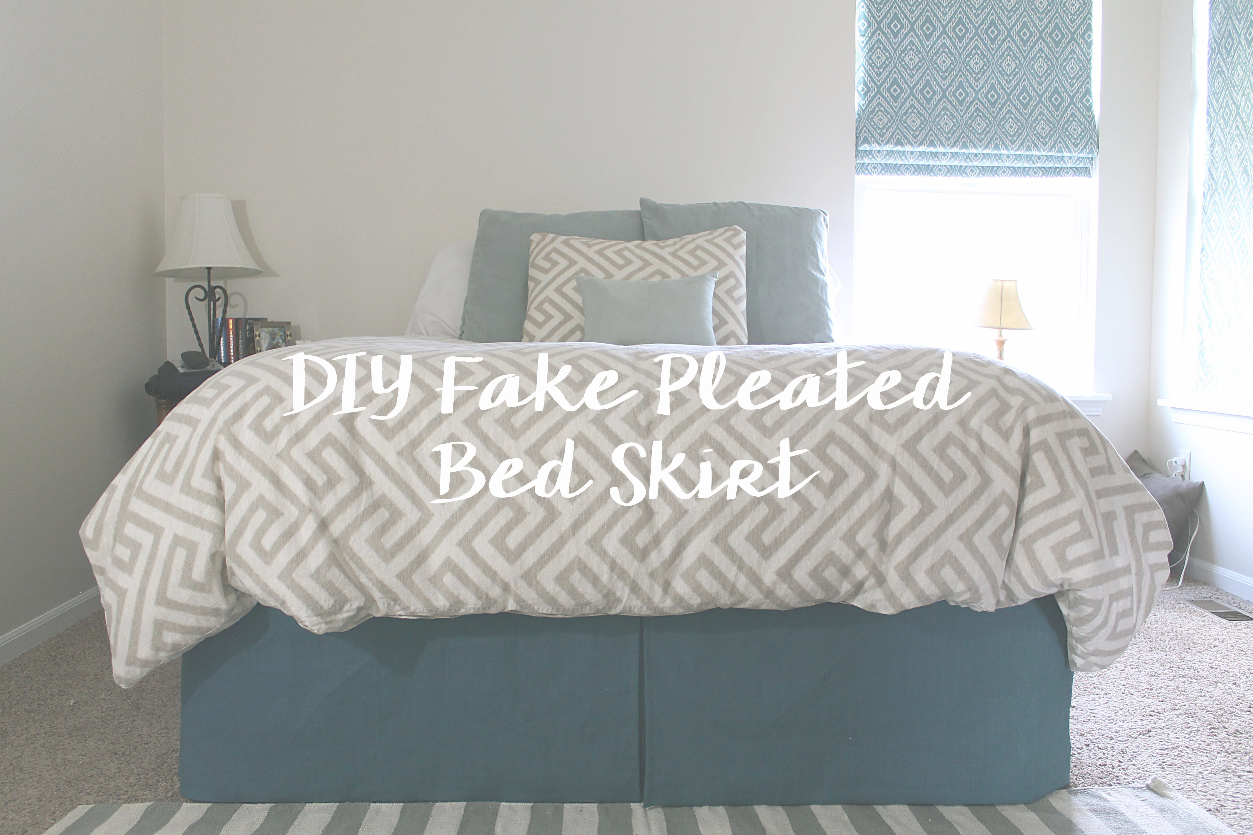 Make Your Own Fake Pleated Bedskirt The Jaderstons