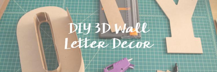 DIY Letter Wall Art