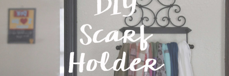 Easy & Cheap Scarf Holder